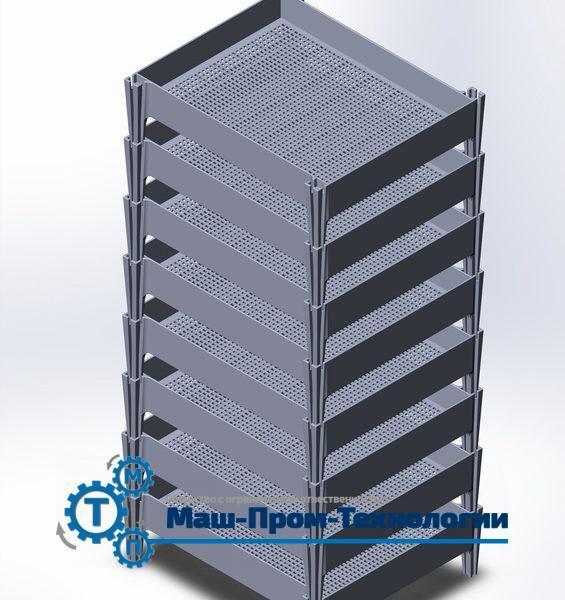 Ящик решетчатый из полиэтилена в штабеле Каркас для штабеля полиэтиленовых ящиков